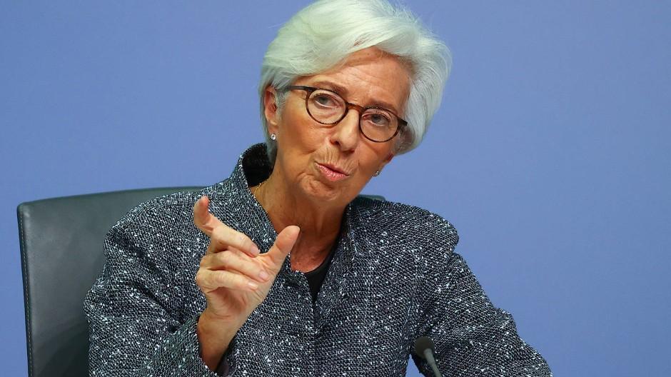 Wenn es knapp wird, ist  sie da: Die Präsidentin der EZB, Christine Lagarde