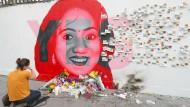Ein Wandbild erinnert an Savita Halappanavar, der eine Abtreibung verweigert wurde und die an den Folgen ihrer Schwangerschaft starb.