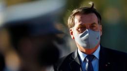 Richter verdonnert Bolsonaro zum Tragen einer Maske