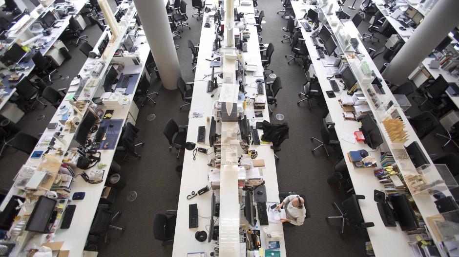 Büro ohne Boss: In der Arbeitswelt 4.0 sollen Mitarbeiter eigenverantwortlich handeln und ihre Vorstellungen umzusetzen können.