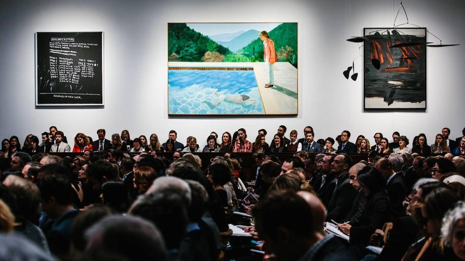 Noch ist der Käufer unbekannt: Aber am Donnerstagabend hat dieses Bild von David Hockney in New York viel Aufsehen erregt.