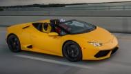 Auf-Galopp: Im Lamborghini Huracàn Spyder entfesseln 610 Pferde einen Orkan.