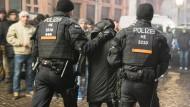 Polizei in der Frankfurter Silvesternacht