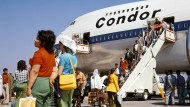 Damals in den 70ern: Condor fliegt als erste Charterlinie einen Jumbo B 747.