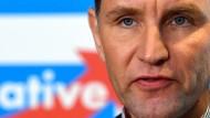 Nicht zu Fall zu bringen: AfD-Fraktionsvorsitzender Björn Höcke