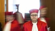 Der Präsident des Bundesverfassungsgerichts, Andreas Voßkuhle, verkündet an diesem Dienstag das Urteil im OMT-Verfahren.