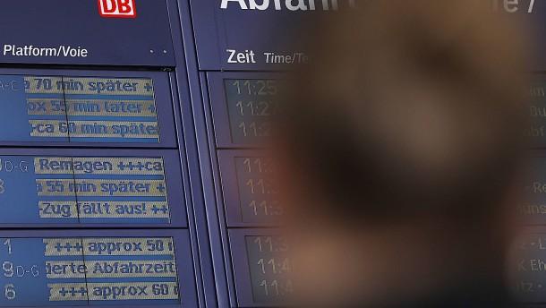 Ausfälle, Verspätungen und Umleitungen rund um Frankfurt