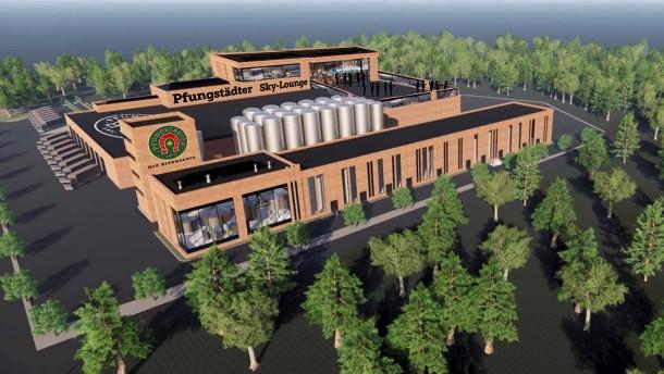 Neubauplan für Brauerei Pfungstädter