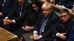 Johnson legt Brexit-Gesetz auf Eis
