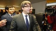 Der abgesetzte katalanische Regionalpräsident Carles Puigdemont in Brüssel
