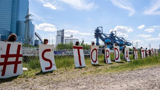 Protest gegen neues Kohlekraftwerk