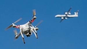 In Corona-Zeit weniger gefährliche Drohnen an Flughäfen
