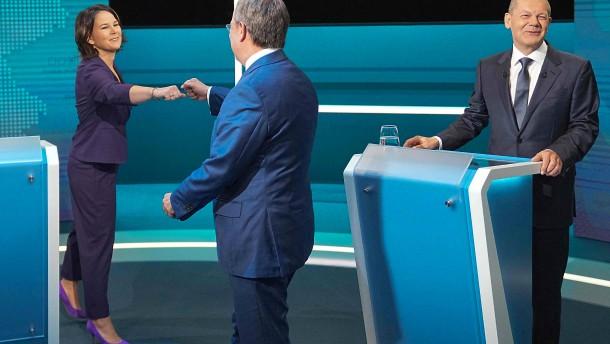 So lief das TV-Triell der Kanzlerkandidaten