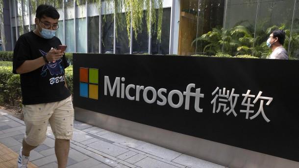 USA und EU-Staaten werfen China Attacke auf Microsoft-Server vor