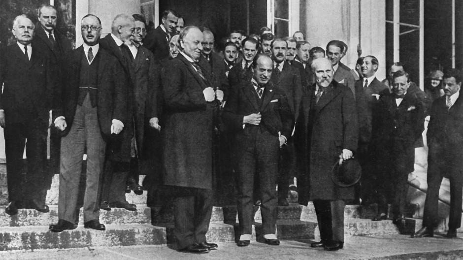Konferenz von Lausanne: 1923 schlossen die Alliierten und die Türkei Frieden.