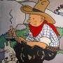 Eine Zeichnung Hergés, die bei einer früheren Auktion versteigert worden ist.