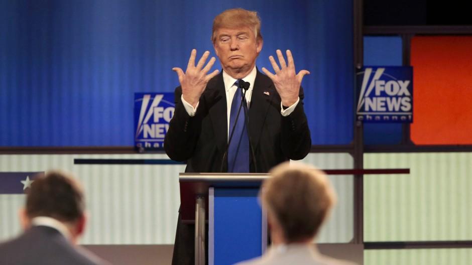 Donald Trump bei einem Auftritt beim Sender Fox News im Jahr 2016