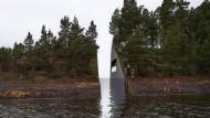 Wunde im Stein: Computeranimation des geplanten Mahnmals bei Utøya