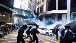 Auseinandersetzungen in Hongkong