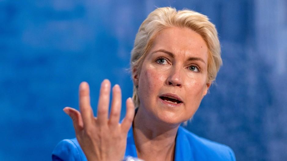 Ihre Partei kann laut Umfragen deutlich zulegen: Mecklenburg-Vorpommerns Ministerpräsidentin Manuela Schwesig (SPD)