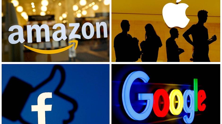 Bekannte Plattform-Unternehmen sind Amazon, Facebook, Google und Apple.