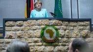Chancenkontinent: Bundeskanzlerin Merkel bei einer Rede in Addis Abeba in Äthiopien.