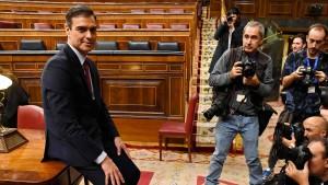 Sanchez zum Regierungschef gewählt
