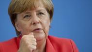 Entschieden: Bundeskanzlerin Merkel am 31. August 2015