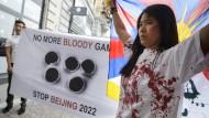 Demonstranten stören Olympia-Bewerbung Pekings