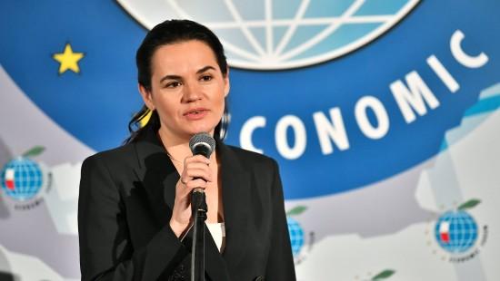 Tichanowskaja prangert Belarus an