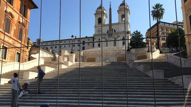 Spanische Treppe erstrahlt wieder in altem Glanz