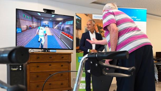 Altersheime testen Computerspiele für Senioren