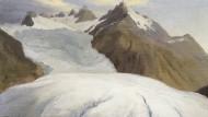 """Vergangene Schönheit: 1778 malte Caspar Wolf den """"Rhonegletscher von der Talsohle bei Gletsch gesehen"""", zu sehen im Aargauer Kunsthaus."""