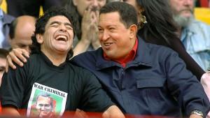 Maradona, das Maskottchen der Linken