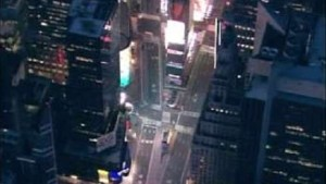 """Ein lauter Knall"" am Times Square"