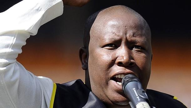 Ein Demagoge  spaltet Südafrika