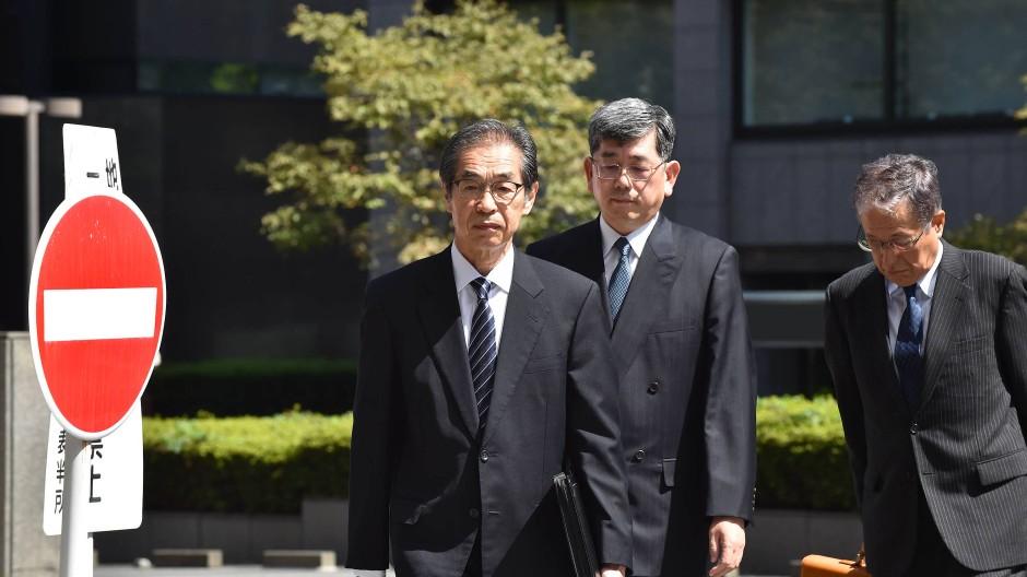 Der frühere Vize-Chef von Tepco, Ichiro Takekuro, erscheint zur Urteilsverkündung.
