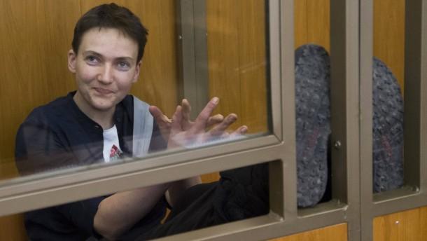 Ukrainische Pilotin zu 22 Jahren Lagerhaft verurteilt