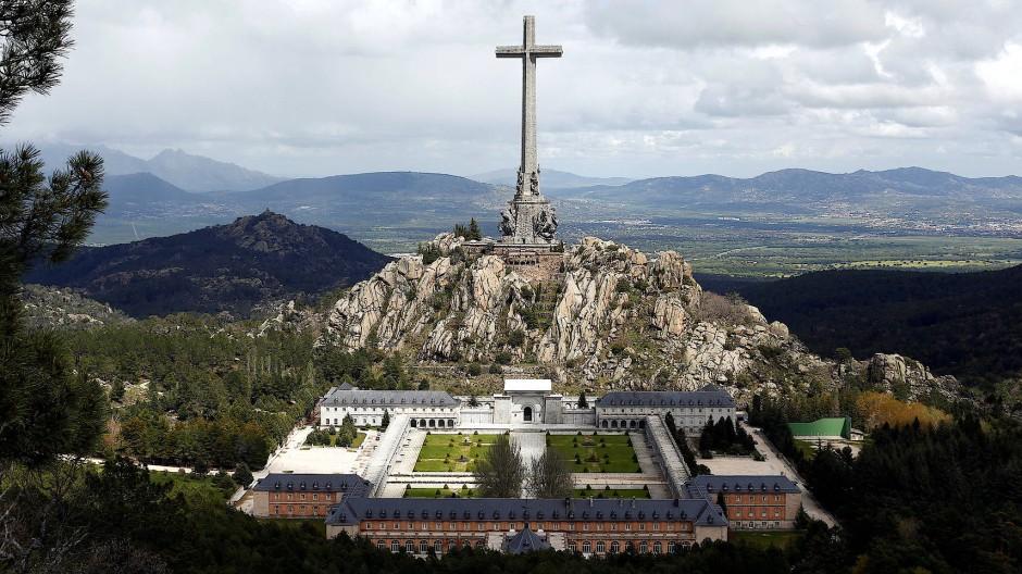 """Das """"Tal der Gefallenen"""" (Valle de los Caidos) am 11. Mai in San Lorenzo de El Escorial"""