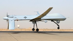 File photo shows an MQ-1B Predator from the 46th Expeditionary Reconnaissance Squadron taking off from Balad Air Base in Iraq