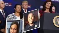 """Immer wieder treten Trump und sein Vizepräsident Mike Pence mit Angehörigen von Opfern illegaler Einwanderer auf, den """"Engelsmüttern""""."""