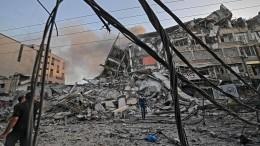 Israel zerstört Hochhaus in Gaza, Raketenalarm in Tel Aviv