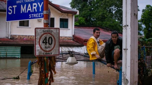 Schwere Überschwemmungen in der Stadt