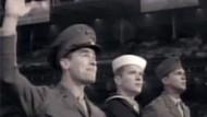 "Ryan Phillippe, Jesse Bradford und Adam Beach in ""Flags of Our Fathers"""
