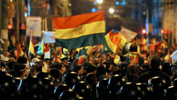Streit um Wahlergebnis in Bolivien