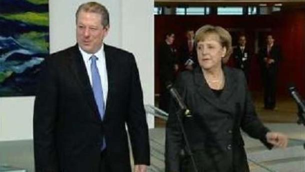 Merkel und Gore rufen zu mehr Klimaschutz auf
