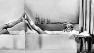 """Sie teilen ihr Leben, aber nicht das Bad: Rock Hudson und Doris Day im Film  """"Bettgeflüster"""""""