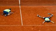 14. Oktober: Kevin Krawietz (links) und Andreas Mies nach dem zweiten French-Open-Sieg