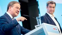 """Laschet und Söder betonen """"gute Zusammenarbeit"""""""