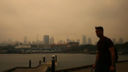 Buschbrände hüllen Sydney in Rauchwolke